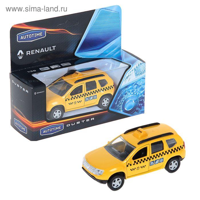 Машина металлическая Renault Duster - такси, масштаб 1:38