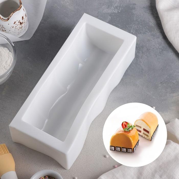 """Форма для муссовых десертов и выпечки 30×13 см """"Буше"""", цвет белый"""
