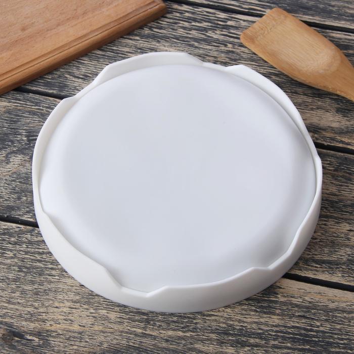 """Форма для выпечки и муссовых десертов 19 х 5 см """"Круг"""", цвет белый"""