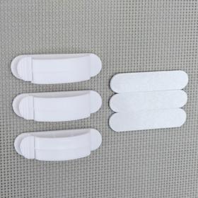 Набор кабельных зажимов 3 шт, цвет МИКС