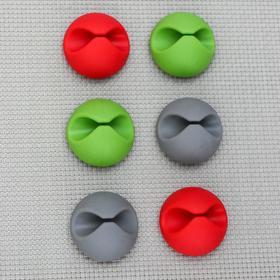 Набор держателей проводов, 6 шт, цвет МИКС Ош