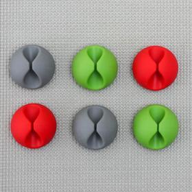 Набор держателей проводов, 6 шт, цвет МИКС - фото 4659351
