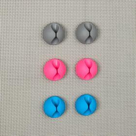 Набор держателей проводов, 6 шт, цвет МИКС - фото 5850963
