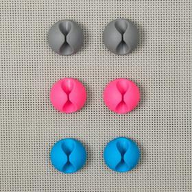 Набор держателей проводов, 6 шт, цвет МИКС - фото 5850964