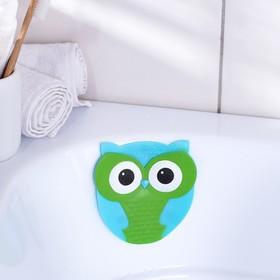 Мини-коврик для ванны Доляна «Совушка», 11×11,5 см Ош