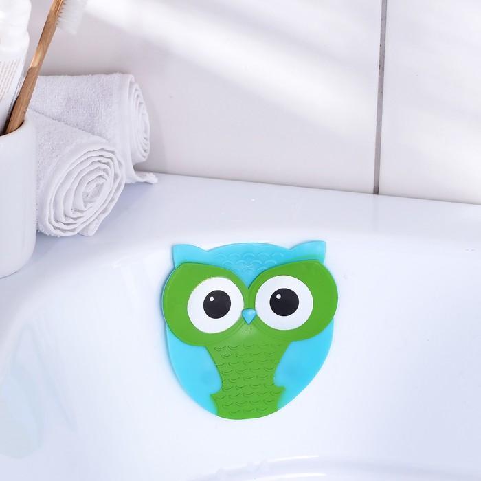 Мини-коврик для ванны Доляна «Совушка», 11×11,5 см