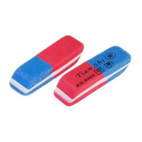 Ластик комбинированный Tian Shi красно-синий скошен малый Ош