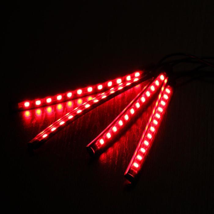 Подсветка салона TORSO, 9 LED-5050, 14 см, с пультом ДУ, RGB, 4 шт.