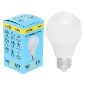 Лампа светодиодная Luazon Е27 5W 2700К AL радиатор