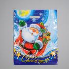 """Пакет """"Новогодний привет"""", полиэтиленовый с вырубной ручкой, 47х38 см, 60 мкм"""