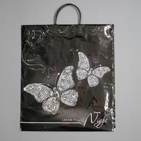 """Пакет """"Бриллиантовая ночь"""", полиэтиленовый с пластиковой ручкой, 44 х 40 см, 100 мкм"""