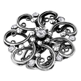 """Кольцо посеребрение с оксидированием """"Цветок"""" кружевной, 20,5 размер"""