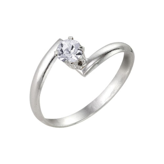 Кольцо ''Крошка'', цвет белый, посеребрение, 17 размер 1820700