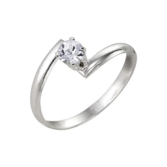 Кольцо ''Крошка'', цвет белый, посеребрение, 18 размер 1820702