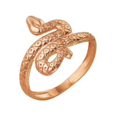 "Кольцо ""Змея"", позолота, 18,5 размер"