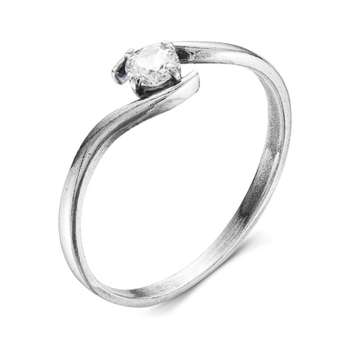 """Кольцо посеребрение с оксидированием """"Нежность"""", 16,5 размер"""
