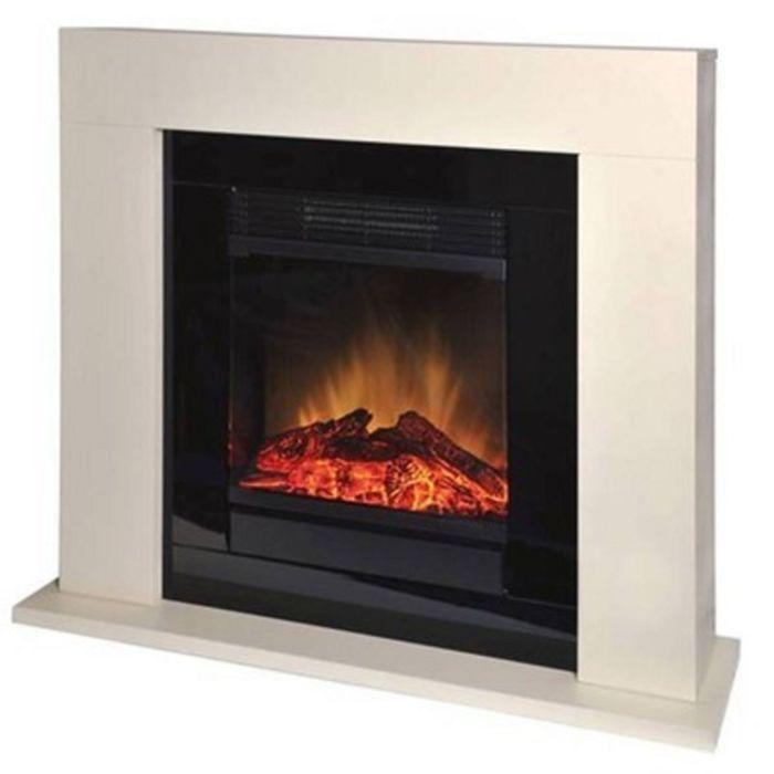 Электрокамин EWT Ventosa de Luxe, 1500 Вт, эффект живого огня, 4 режима, кремовый камень   18540