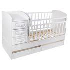 Детская кровать-трансформер «КТМ-МДФ», цвет белый