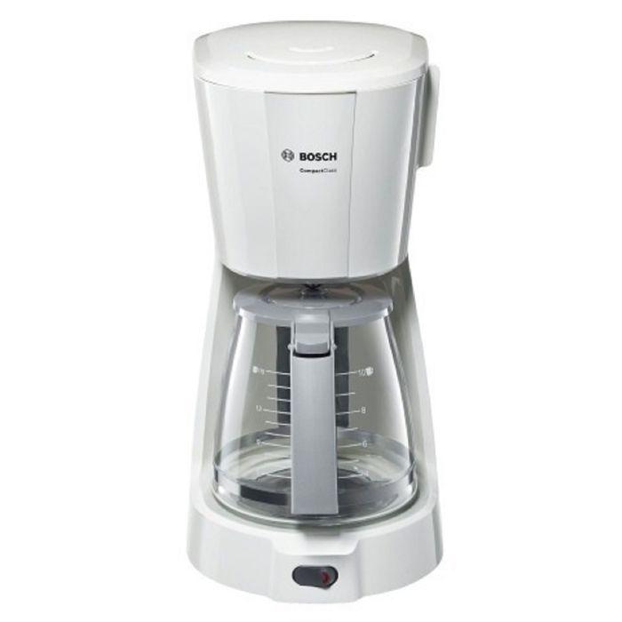 Кофеварка Bosch TKA 3A031, 1100 Вт, 1.25 л, автоподогрев, капельная, белая