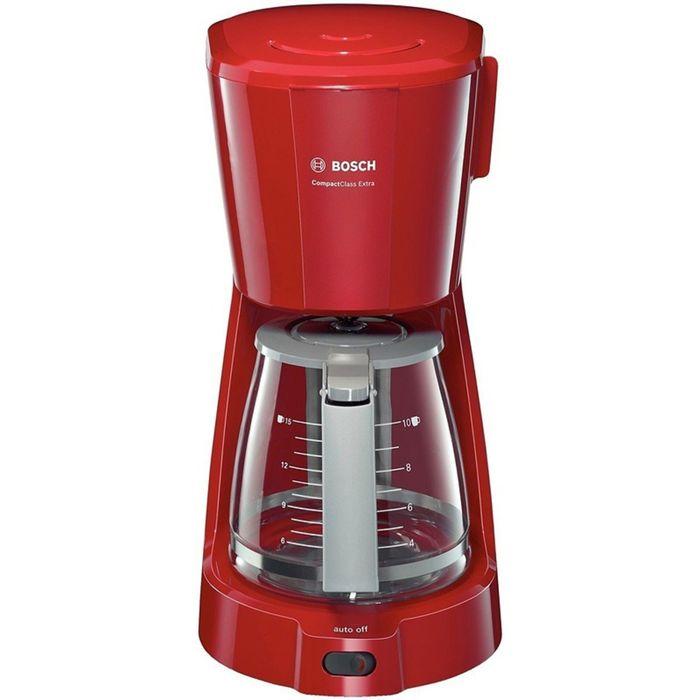 Кофеварка Bosch TKA 3A034, 1100 Вт, 1.25 л, автоподогрев, капельная, красная