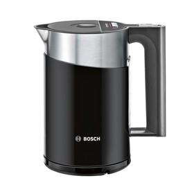 Чайник электрический Bosch TWK861P3RU, металл, 1.5 л, 2400 Вт, черный