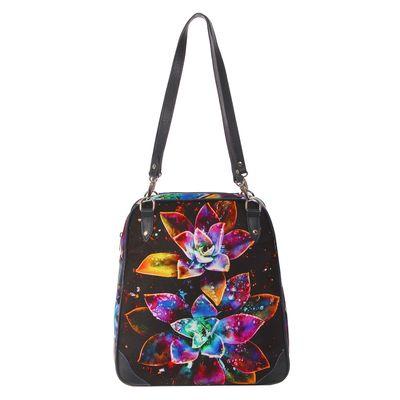 Сумка-рюкзак женская на молнии, 1 отдел, цвет тёмно-синий