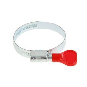 Хомут червячный с ключом MGF, диаметр 32-50 мм, оцинкованный Ош