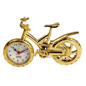 "Alarm clock ""Bike with wide tire"", gold, 15h25 cm, mix"
