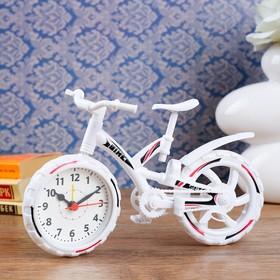 """Будильник """"Велосипед"""", дискретный ход, 12 х 22 см, d=6.5 см, микс"""
