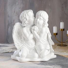 """Статуэтка """"Ангелы пара"""", белая, 39 см"""