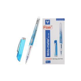 Ручка гелевая Flair WRITO-METER 0.5 мм узел-игла, (пишет 1.5 км), увел.объем стержня, мягкое письмо, синяя