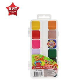 Акварель медовая Koh-I-Noor, 24 цвета, в пластиковой коробке, без кисти