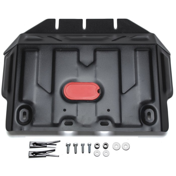 Защита картера АвтоБРОНЯ (часть 2) для Toyota Land Cruiser 150 Prado (V - 2.7; 3.0d; 4.0; 2.8d) 2009-2017 / (V - 2.7; 4.0) 2017-н.в., крепеж в комплекте, сталь, 2 мм, 111.05784.1