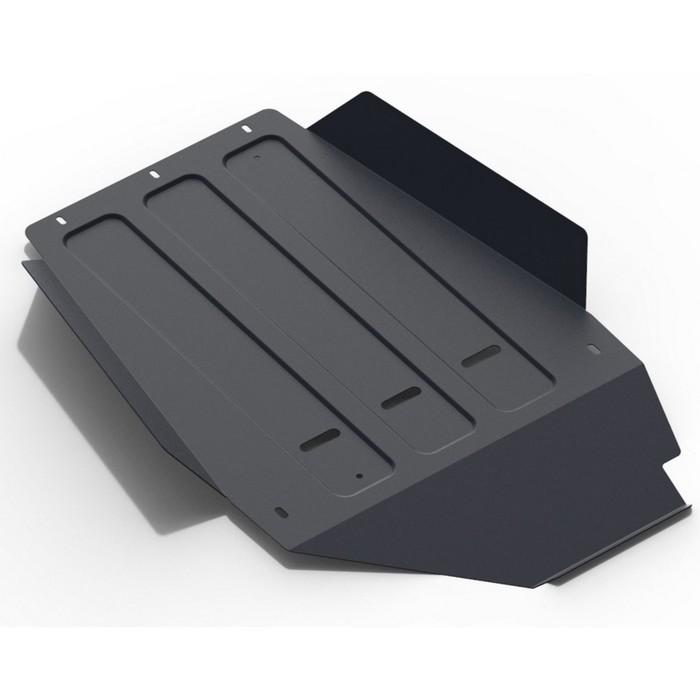 Защита КПП АвтоБРОНЯ для Toyota Land Cruiser 100 (V - 4.2d; 4.7) 1998-2007, крепеж в комплекте, сталь, 2 мм, 111.05753.1