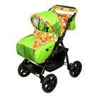 Коляска-трансформер «Гном», пластиковые колёса, оттенки зелёного, рисунок МИКС - фото 985244