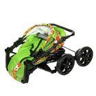 Коляска-трансформер «Гном», пластиковые колёса, оттенки зелёного, рисунок МИКС - фото 985250