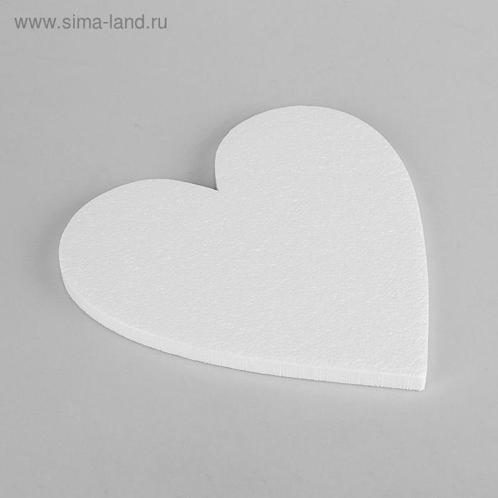 """Заготовка из пенопласта """"Сердце плоское"""", 28 х 1.5 см, набор 5 шт"""