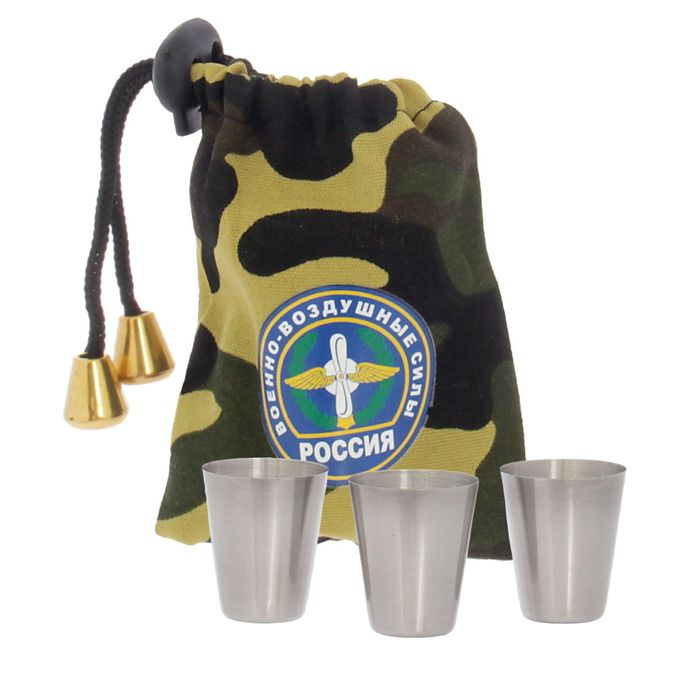 "Набор стопок в мешке ""ВВС"", 30 мл, 3 шт."