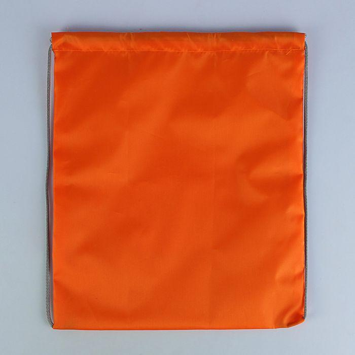Сумка для сменной обуви 420×340 мм, оранжевая