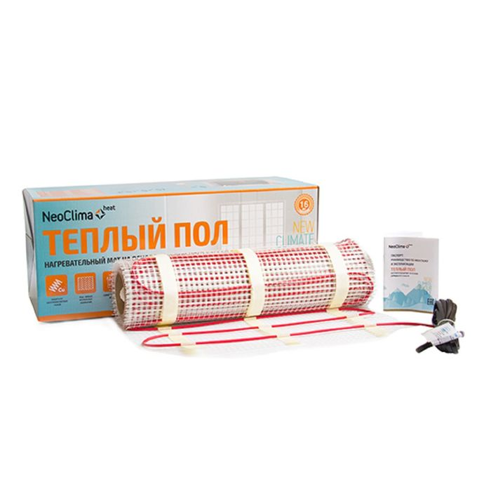 Теплый пол Neoclima, мат нагревательный N-TM 300 Вт, 2.0 м2