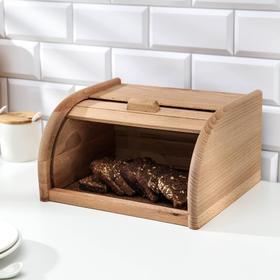 Хлебница деревянная «Хозяюшка», бук, 29×22,5×15 см
