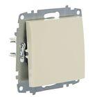 Выключатель ABB Cosmo, одноклавишный, кремовый, 619-010300-200