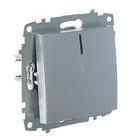 Выключатель ABB Cosmo, одноклавишный, с подсветкой, алюминий, 619-011000-201