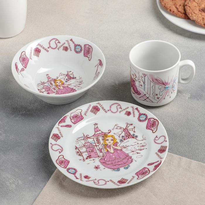 Набор посуды «Принцеска», 360 мл, 3 предмета