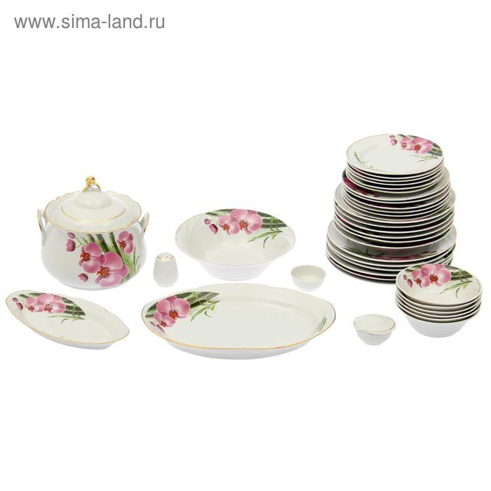 """Сервиз столовый """"Бамбуковая орхидея"""", 37 предметов, 4 вида тарелок"""