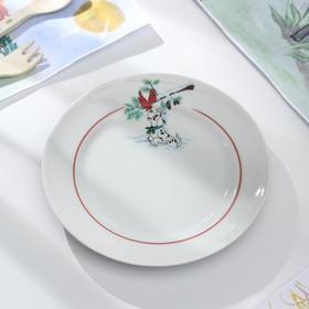 Тарелка мелкая «Далматинцы», 17 см Ош