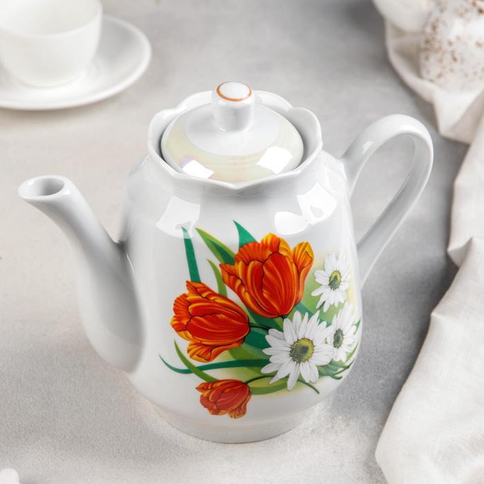Чайник «Ромашка с тюльпаном», 1,75 л