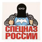 """Наклейка на авто """"Спецназ России"""", 18 х 18 см"""