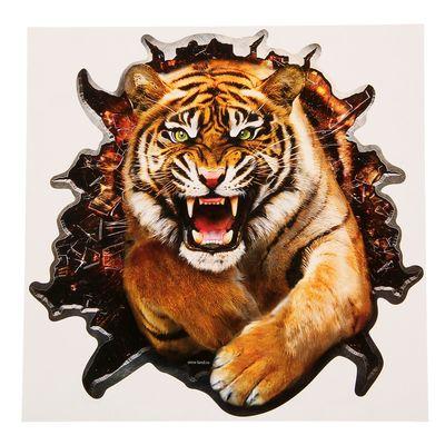 "Наклейка на авто ""Тигр"" 20х20 см"