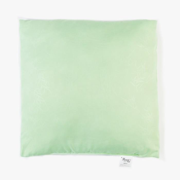 Подушка высокая Тихий Час Идеал, размер 50х50 см, силиконизированное волокно, ткань смесовая